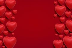 Valentines Day Vector background Stock Photo