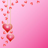 Valentines Day vector card Royalty Free Stock Photo