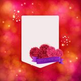 Valentines Day vector card design Stock Photo