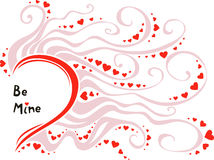 Valentines day vector card template Stock Images