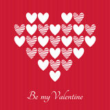 Valentines Day vector greeting card Stock Images