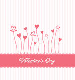 Valentines day vector with heart flowers Royalty Free Stock Photo