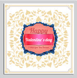Valentines Day Vector Postcard, Illustrations and Typography Elements Royalty Free Stock Images