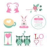 Valentines Day vector set Stock Images