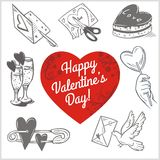 Valentines day - vector set. Royalty Free Stock Photos