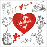 Valentines day - vector set. Stock Photography