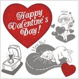 Valentines day - vector set. Stock Photos