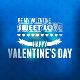 Valentines Day Vector Template. Card design web or any print Royalty Free Stock Image