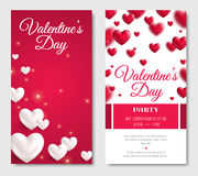 Valentines Day Vertical Banners Royalty Free Stock Photos
