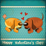 Valentines Day Vintage Card Stock Photo