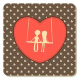 Valentines Day vintage card Royalty Free Stock Image