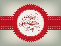 Valentines day vintage card. EPS 10 Stock Photography