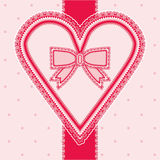 Valentines day vintage card with heart Royalty Free Stock Photo