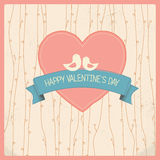 Valentines day vintage card Stock Image