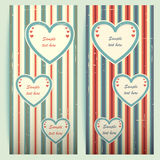 Valentines day vintage cards. Stock Images