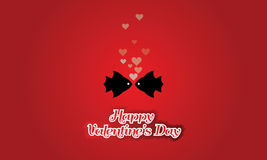 Valentines day vintage concept two fishes  heart bubbles love theme Royalty Free Stock Photography