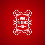 Valentines day vintage design background. 10 eps Royalty Free Stock Image