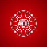 Valentines day vintage design background Royalty Free Stock Photos