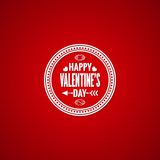 Valentines day vintage design background Stock Photography