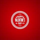 Valentines day vintage design background. 10 eps Stock Photography