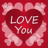 Valentines day vintage letter Background love Heart Royalty Free Stock Photos