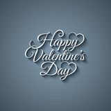 Valentines day vintage lettering background Royalty Free Stock Photography