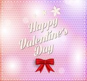 Valentines day vintage lettering background Stock Photo