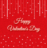 Valentines Day Vintage Lettering Background Royalty Free Stock Photos