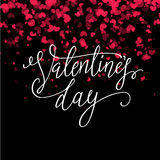 Valentines day vintage lettering background for holiday card. Royalty Free Stock Photography