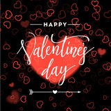 Valentines day vintage lettering background for holiday card. Stock Image