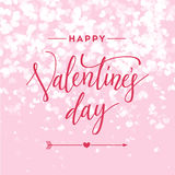 Valentines day vintage lettering background for holiday card. Royalty Free Stock Images