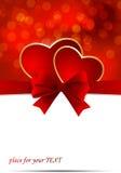 Valentines day vintage lettering background Stock Images