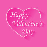 Valentines day vintage lettering background vector with heart on pink Royalty Free Stock Photo