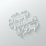 Valentines day vintage lettering cut paper Royalty Free Stock Photography