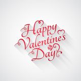 Valentines day vintage retro lettering background Stock Photo