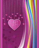 Valentines day violet abstract  background Royalty Free Stock Images