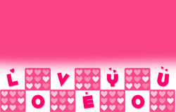 Valentines Day Wallpaper With Love You Word Stock Photography