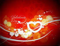 Valentines day wave line background Stock Photo