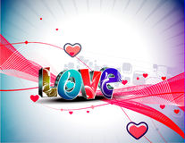 Valentines day wave line background Stock Photos