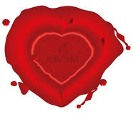 Valentines day wax seal Stock Images