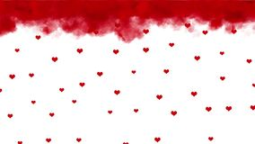 Valentines day weather. Raining hearts stock footage