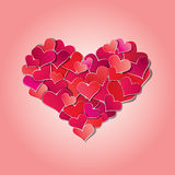 Valentines day or Wedding background with Red hear Royalty Free Stock Photography