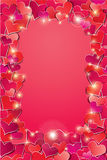 Valentines day or Wedding background with Red hear Stock Image