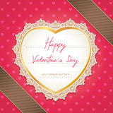 Valentines day or wedding card. Stock Photos