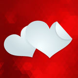 Valentines day or wedding card. EPS 10 Royalty Free Stock Photo