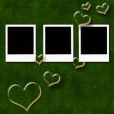 Valentines day or wedding card Stock Images