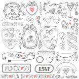 Valentines day,wedding frames,ribbon,icon decor Royalty Free Stock Photo
