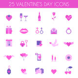 Valentines Day and wedding icons. Love concept in flat style. Vector illustration EPS10 Royalty Free Stock Images