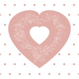 Valentines day, wedding illustration with heart from flowers. Vector. EPS 8 Stock Image