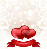 Valentines day or wedding invitation Royalty Free Stock Photography